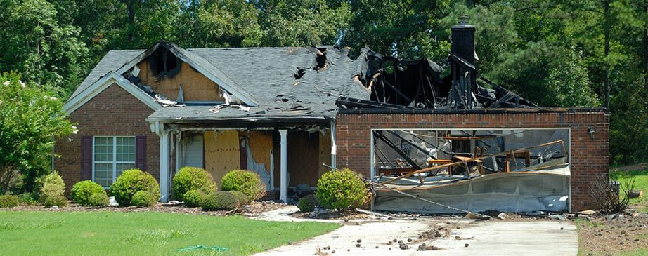 remains of house that was on fire